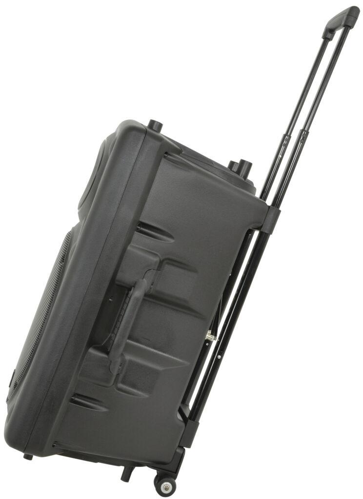 "mobilní 15"" zvukový systém MP3/SD/USB/2x VHF"