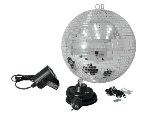 Set LED zrcadlová koule 30 cm