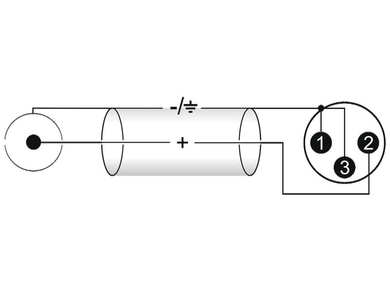 Kabel XC2-30 2x RCA - 2x XLR samec