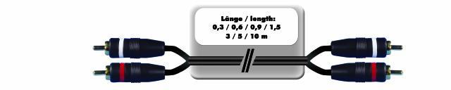 propojovací kabel 2x 2 RCA zástrčka HighEnd