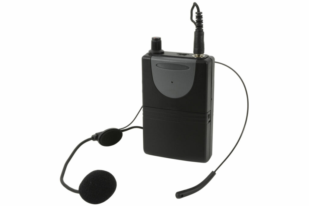 QTX náhlavní sada VHF pro QR+QXPA reproduktory