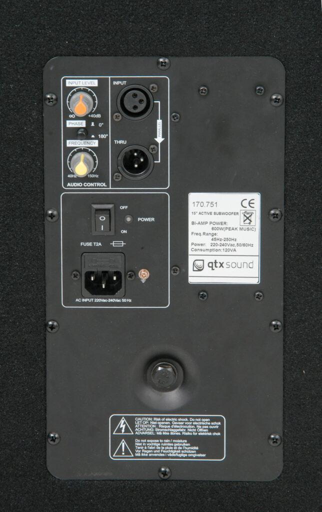 """QTX SMWA15 PA aktivní 15"""" subwoofer"""