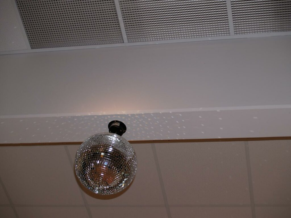 Zrcadlová koule 30cm SET