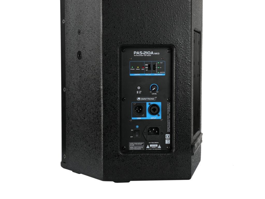 Omnitronic PAS-210A MK3 2-pásmový aktivní reproduktor s DSP