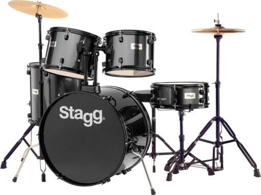Stagg TIM122B BK kompletní bicí sada