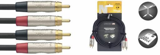 kabel dvojitý RCA/RCA