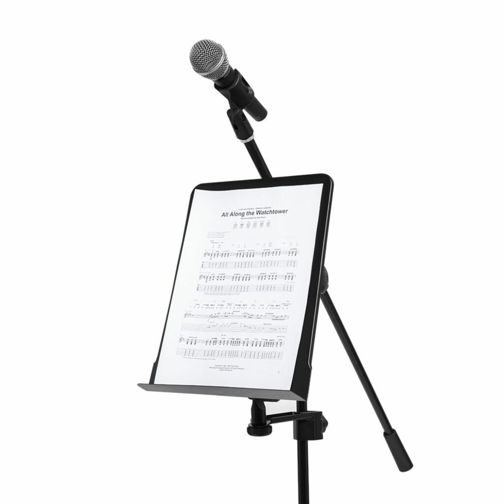 notový pult k upevnění na mikrofonní stojan