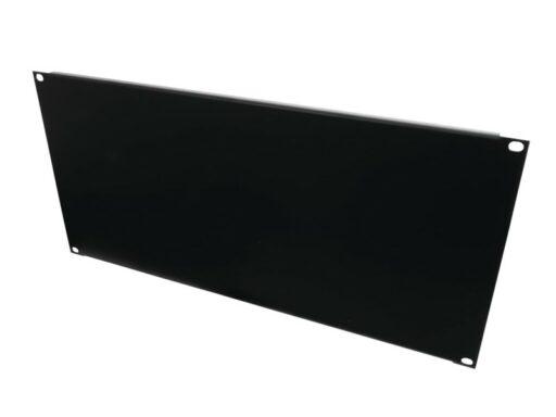 """Přední panel zaslepovací 19"""" 5HE U ocelový černý"""