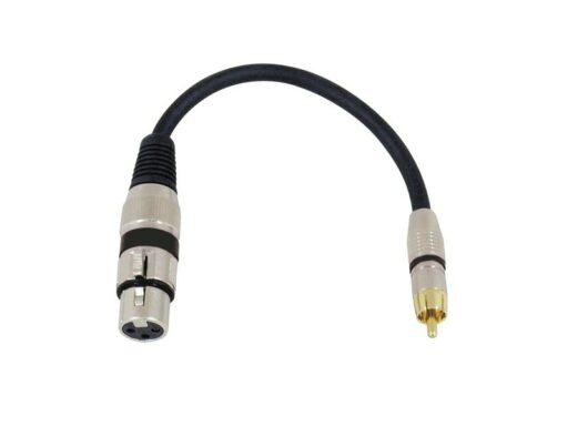 Kabel SADC XLR samice - RCA samec
