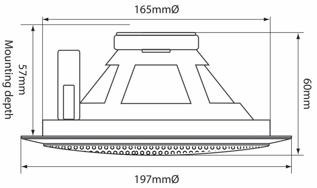 "Adastra 100V podhledový 5.25"" reproduktor"