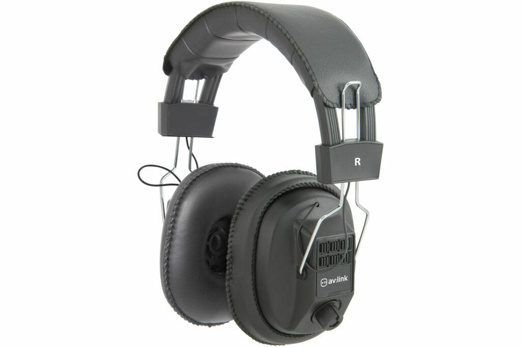 AV:link mono/stereo sluchátka s ovládáním hlasitosti