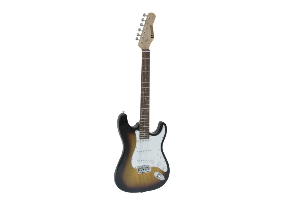 elektrická kytara s kombem a příslušenstvím