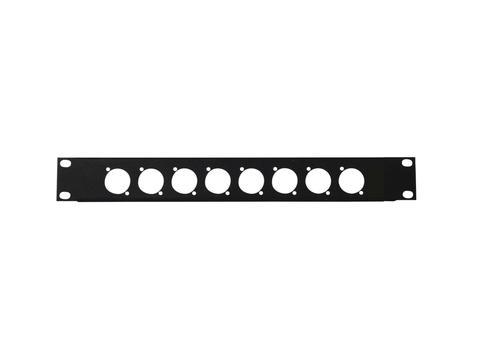"""Přední panel 19"""" pro 8x XLR (D-typ)"""