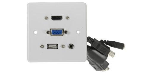 AV:link nástěnná zásuvka HDMI/VGA/USB/Jack 3.5mm