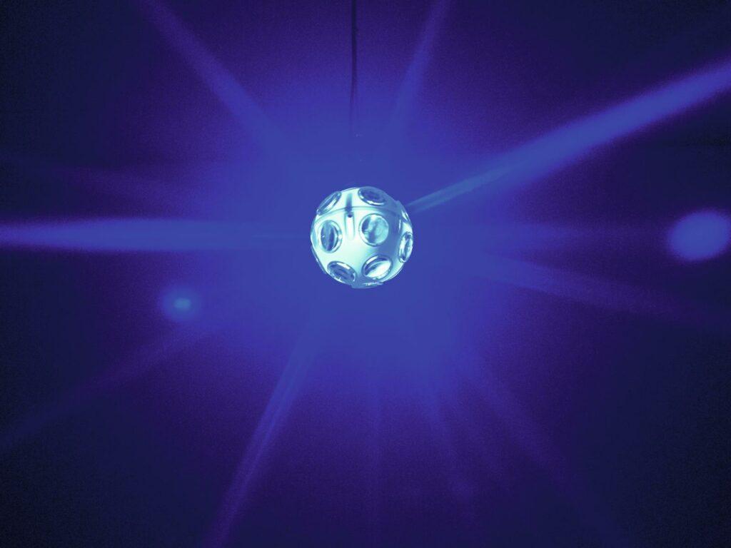 Eurolite LED SET 20 cm zrcadlová koule 2x 1W TCL