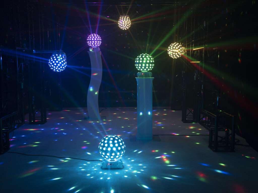 8x4W QCL efekt s lasere