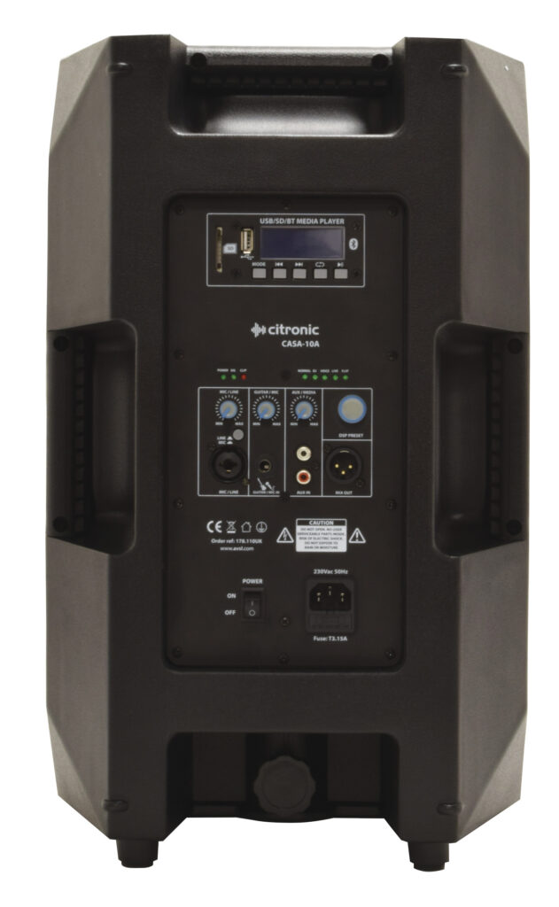 "aktivní 10"" reprobox DSP/USB/SD/BT"