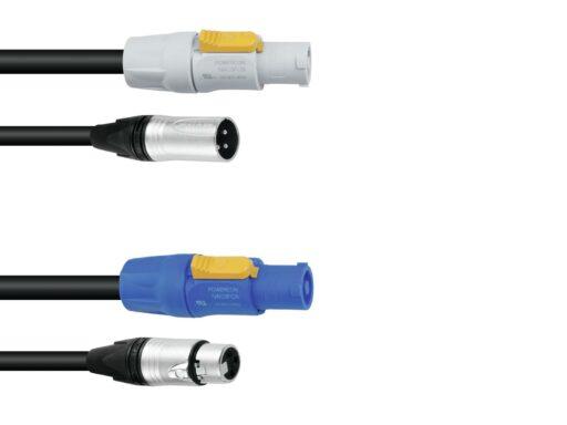 PSSO Combi Cable DMX PowerCon/XLR 1
