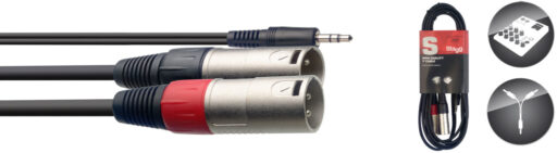 Stagg SYC3/MPS2XM Y-kabel