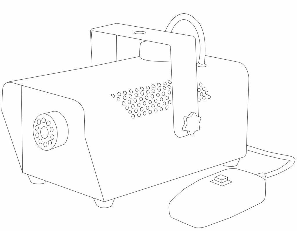 výrobník mlhy s dálkovým ovladačem
