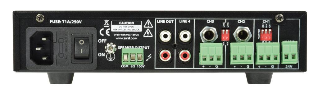 100V mixážní zesilovač